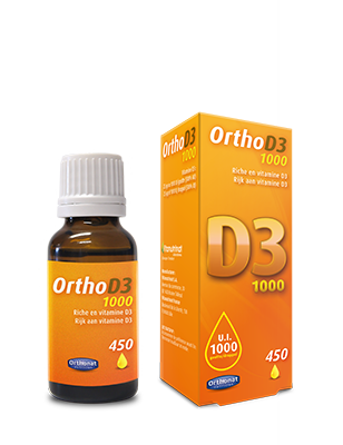 Complemento alimenticio vitamina D3 1000 Orthonat